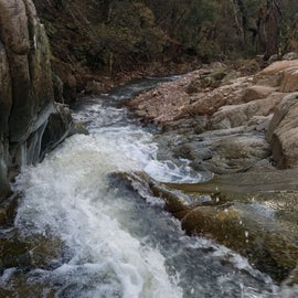 The river flows pretty strong throughout certain months.