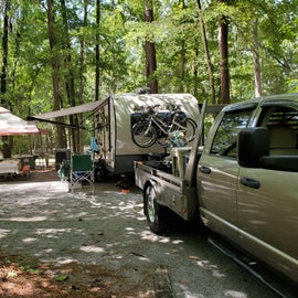 Campsite 132 on Antioch Loop.  Was a long site and very shady!!!