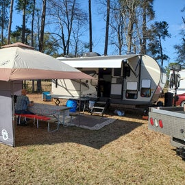 The campsite had lots of room for setup!!!!