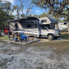 Roomy campsites