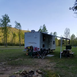 Nice campsites.  No electricity or water.  Filled our holding tank and brought generator in case we needed it.