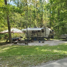 Nice roomy sites with gravel pads.