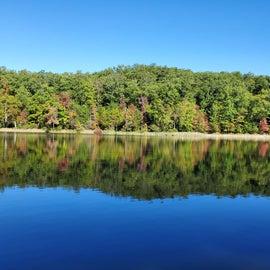 Lake near our campsite.