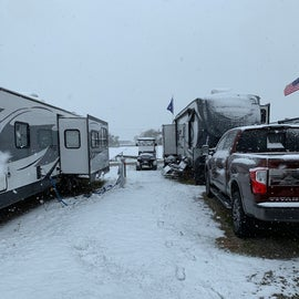 our site in the mud