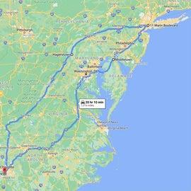 1300 miles