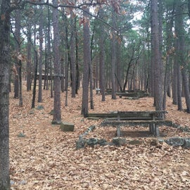 some tent sites on the hill