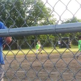 My god kids playing softball