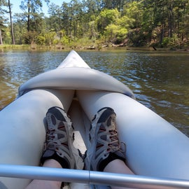 nice paddling on the spring fed lake, but watch for stumps