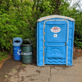 Pit toilet and trash available (just across the towpath in the parking area).
