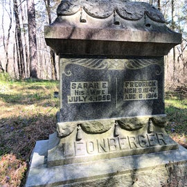 Head down the forest road and you will find this small cemetery. The family lost a few children within a few years - life must have been tough in the 1800s.