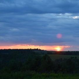 Campground sunset