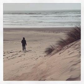 Oceano Dunes beach, short hike from campsite