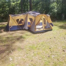 our campsite in the primitive area.