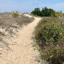Beach enterance, walkable from campground.