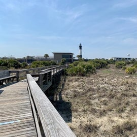 Beach entrance, walkable from campground.