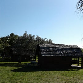 back view of cabins