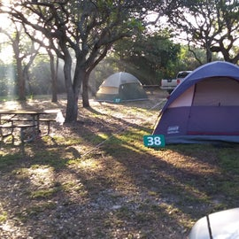 tent camping area