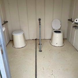 ladies restroom  no lock on door
