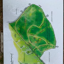 Map to hiking right next to CG
