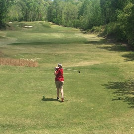 Hole 1 on the North course.  Beautiful and challenging course.
