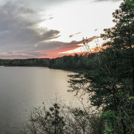 sunset view from camp
