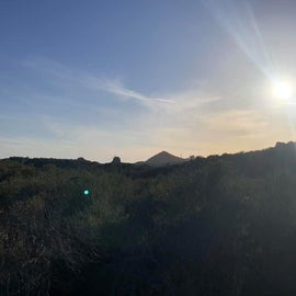 view from San Juan Trail at sunset