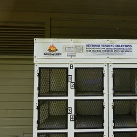 Firewood vending machine.
