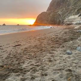 sunset at Limekiln Beach