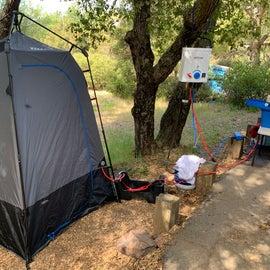 Joolca single shower tent.