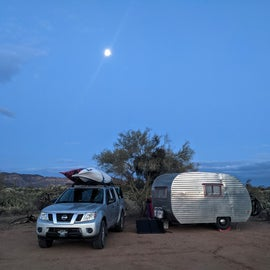 Full moon rising over camp.