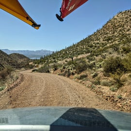 Driving back down to Roosevelt Lake.