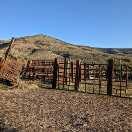 This corral is immediately across the road and accessible to all.