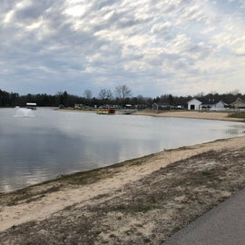 Pond for kayaking, swimming and paddle boating.