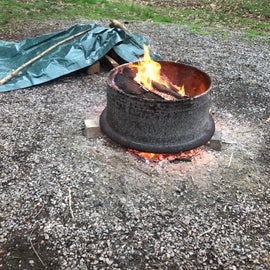fire pit clean and adequate