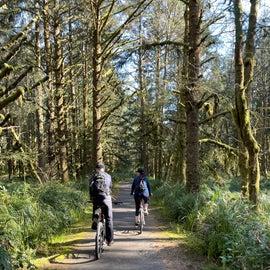 9 miles of paved biking trails.