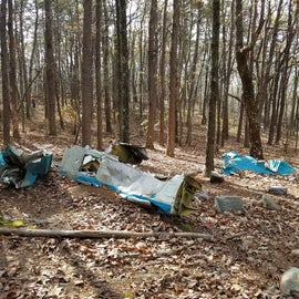 Hiked on the trail and came across this plane wreck from many years ago.
