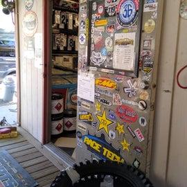 Motocross shop entrance
