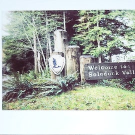 Polaroid of the welcome sign April 2021