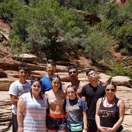 We took our family hiking