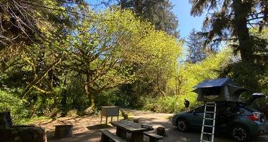 Elk Prairie Campground, Prairie Creek Redwoods