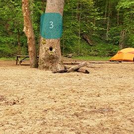 Site 3 Glade Creek walk-in
