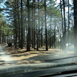 Beautiful campground but pretty open between sites