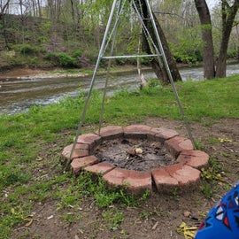 View of Sugar Creek from site 41 fire pit