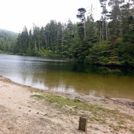 The lake just off the camp ground.