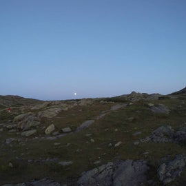 The moonrise from right outside the hut.
