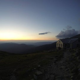 Sunset with the hut in the frame.