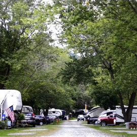 The other side of the campground is mainly for RVs.