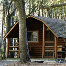 Staying in a cabin is an option.