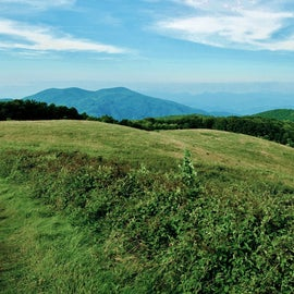 The Appalachian Trail passes over Max Patch.