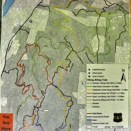 The trailhead where I began was in the southern section of the Uwharrie National Forest.